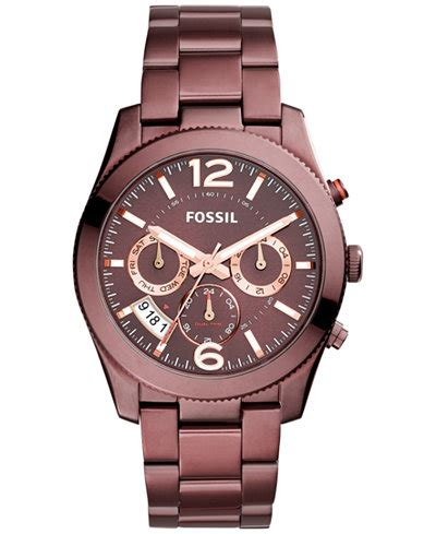 L Wine By Fossil fossil s boyfriend tone stainless steel