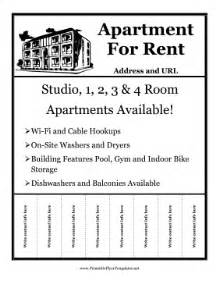 apartment flyers free templates rent flyer with details