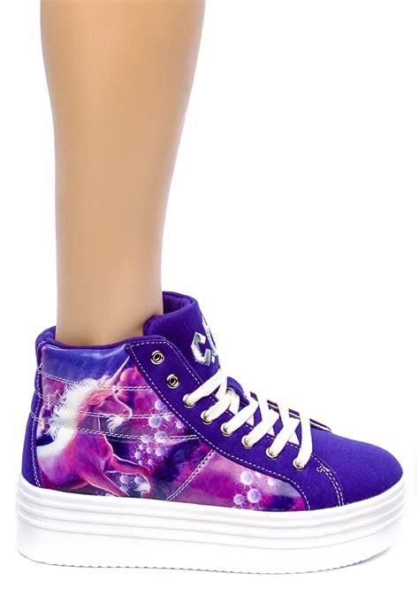 unicorn shoes stompin on unicorn platform sneakers dolls kill