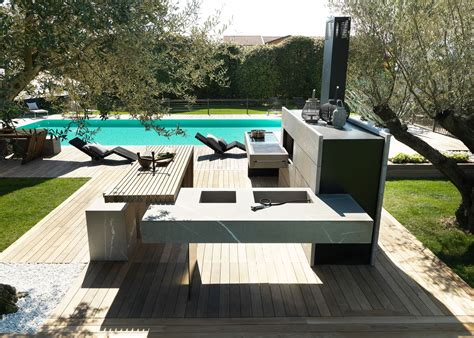 outdoor kitchen bring the inside outside with the modulnova outdoor kitchen