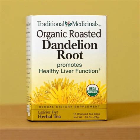 Roasted Dandelion Root Tea Detox by Traditional Medicinals Roasted Dandelion Tea