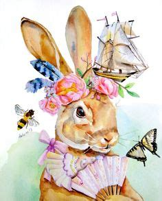 snowdrop and daffodils butterflies and bees sailboat rabbit girl and rabbit boy illustrations pinterest