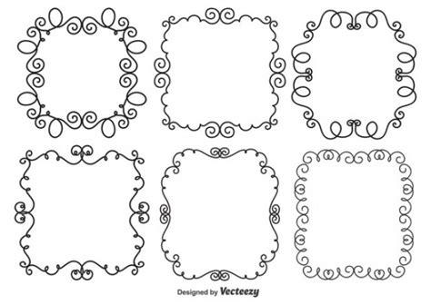 free doodle frames set of 6 doodle style frames vector free