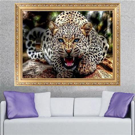 Beauty Salon Decor 30x40cm 5d Diamond Painting Leopard Embroidery Cross
