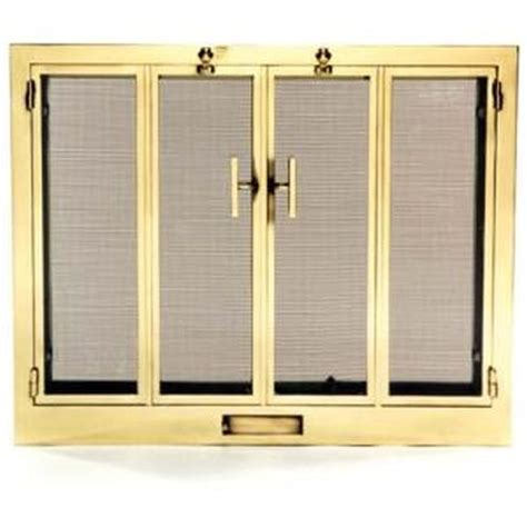 Brass Fireplace Screen With Glass Doors Images Hearth Accessories 6300 Jpg