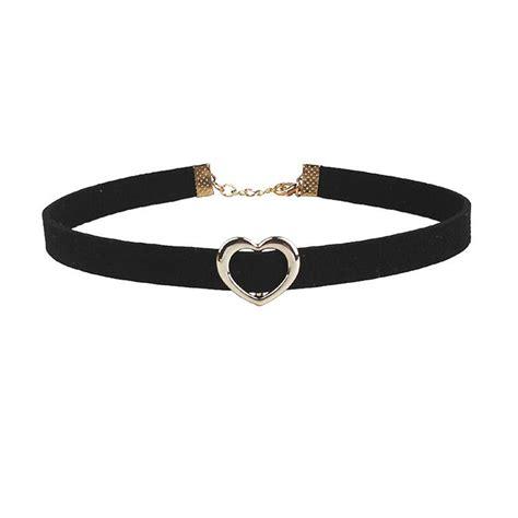 Black Choker rscvonm choker necklaces pendants rock black