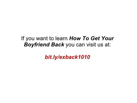 7 Tips On How To Keep Your Boyfriend Happy by How To Get Your Boyfriend Back 4 Tips