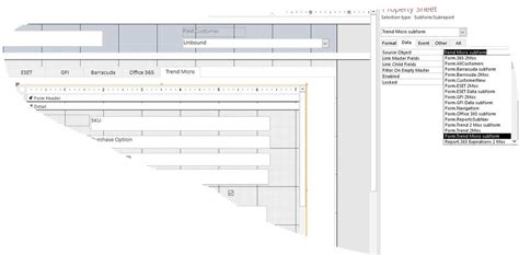 c form design not showing subform not showing in main form microsoft community