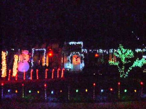 christmas lights synched to music in pecan grove youtube
