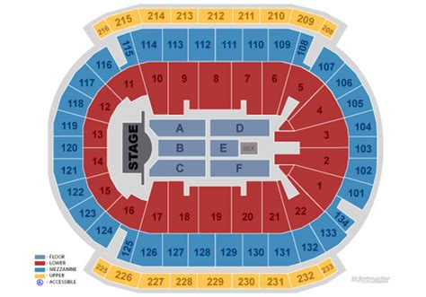 seating maps  charts prudential center newark nj