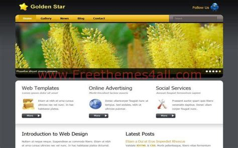 free website templates for yellow pages yellow gold gray nature css template download