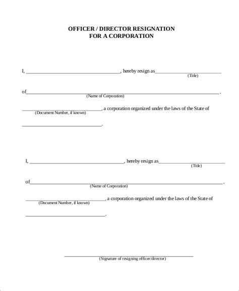 corporate resignation letter letter of resignation 51 exles in word pdf