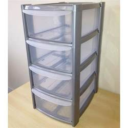 4 tier a5 plastic drawer unit for a5 paper
