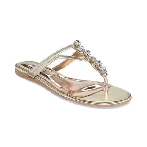 jeweled sandals badgley mischka kittie jeweled sandals in silver