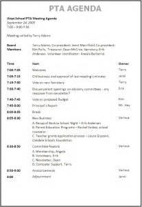 pta meeting agenda template 1 best agenda templates