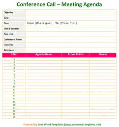 Conference Call Meeting Agenda Template by Meeting Agenda Template Save Word Templates