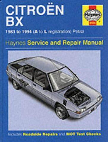 Citroen Bx Service And Repair Manual Haynes B 246 Se X
