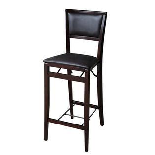 30 Folding Stool by Linon Triena Pad Back Folding Bar Stool 30 Inch Seat Height
