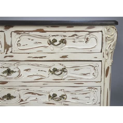 antique white distressed chest of drawers antique white painted distressed louis xv french country