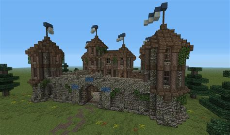 1 Level House Plans by Medieval Fortress Minecraft Project
