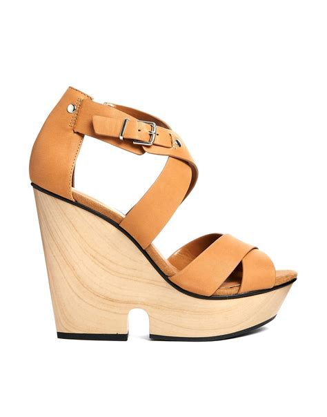 chunky wooden sandals mango wooden wedge chunky heeled sandals in beige