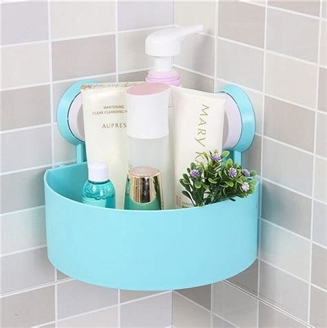 suction cup bathroom shelf bathroom corner storage rack organizer shower shelf