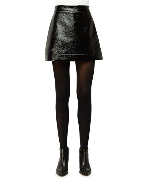 michael michael kors patent faux leather mini skirt in