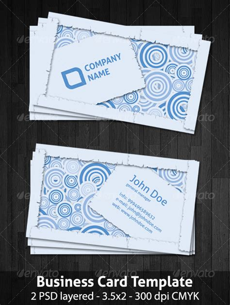Cool Cards Template by Cool Business Card Template Graphicriver
