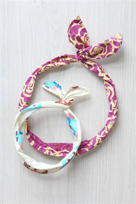 diy anthropologie multitude hair ties tutorial from love u diy wire headband easy sewing tutorial summer sewing