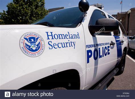 homeland security car washington dc usa stock