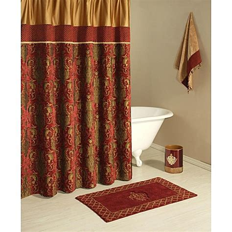 burgundy and gold shower curtain buy austin horn classics 72 inch x 72 inch montecito