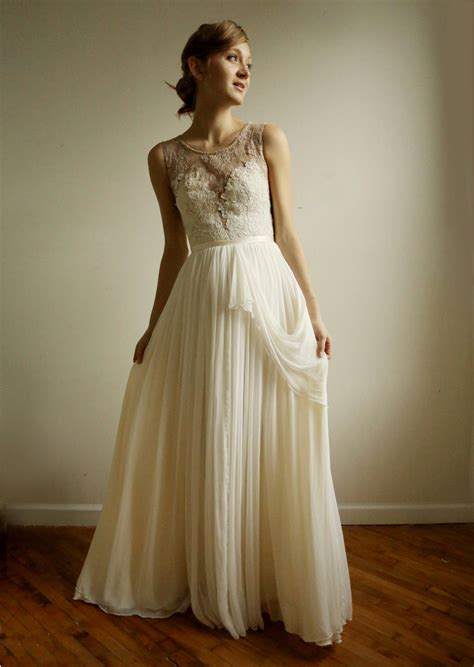 lace sheer wedding gowns vintage inspired wedding dress with sheer lace neckline