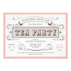 vintage tea invitations 5 quot x 7 quot invitation card zazzle