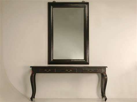 console table and mirror productwiki black lacquered console table and mirror sold