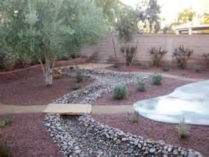 Rock Backyard Landscaping Ideas Backyard River Rock Landscape Landscaping Creek Bed And Backyards