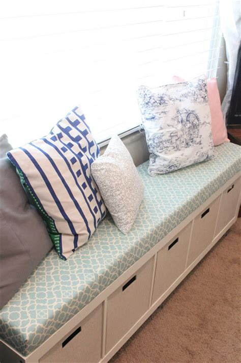 bench for under window mommy vignettes ikea no sew window bench tutorial