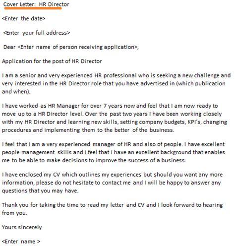 hr director cover letter  icoverorguk