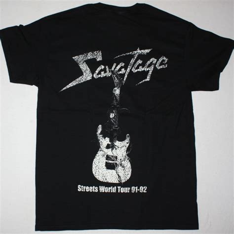 Tshirt Savatage savatage streets a rock opera new black t shirt best