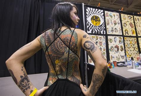 tattoo convention toronto 2018 toronto tattoo show held in canada xinhua english news cn