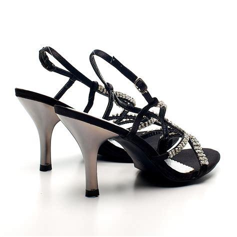 womens sparkly high heel prom bridal diamante
