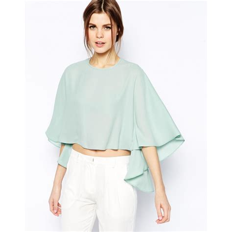 cara buat blouse cara jahit blouse chiffon simple simple light green o neck