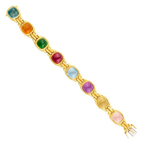 colored for bracelets marlene stowe multi colored gem bracelet in 18k yellow