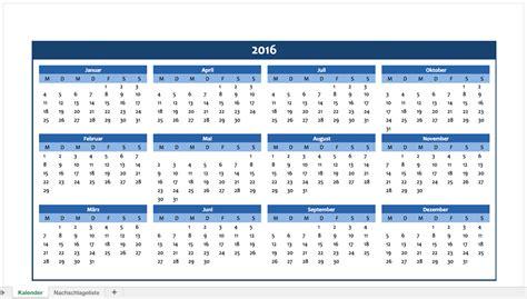 Kalender 2016 Jahresplaner Jahreskalender 2016 F 252 R Excel Excel Vorlagen F 252 R Jeden Zweck