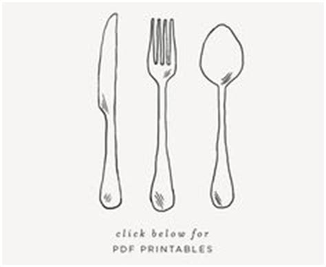 Er Bag Spoon Print fork pattern use the printable outline for crafts