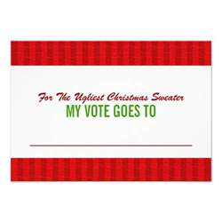 ugly christmas sweater voting ballot card 3 5 quot x 5