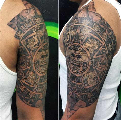 aztec tribal sleeve tattoos 80 aztec tattoos for ancient tribal and warrior designs