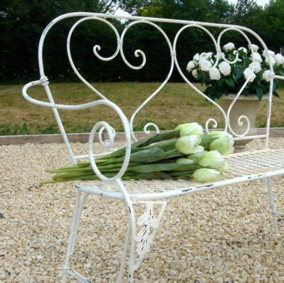 heart garden bench cream heart garden bench bliss and bloom ltd