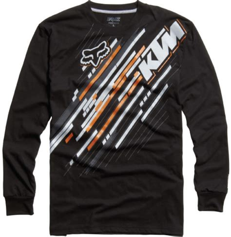 Ktm Youth Clothing Fox Racing Ktm Linear Revolutions L S Youth Black Yl