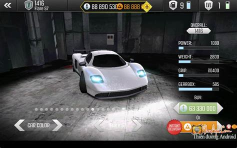 top game mod cho android top speed hd v1 06 mod tiền game đua xe sang số cho android