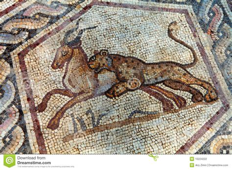 roman mosaic stock photo image  birds century